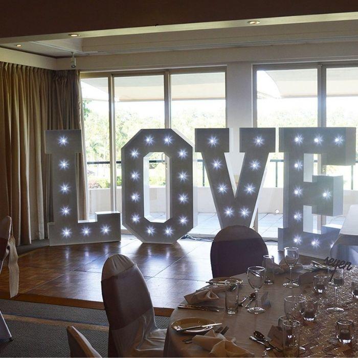 Lettere luminose matrimonio