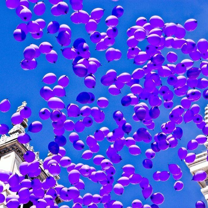 effetti speciali matrimonio - volata palloncini