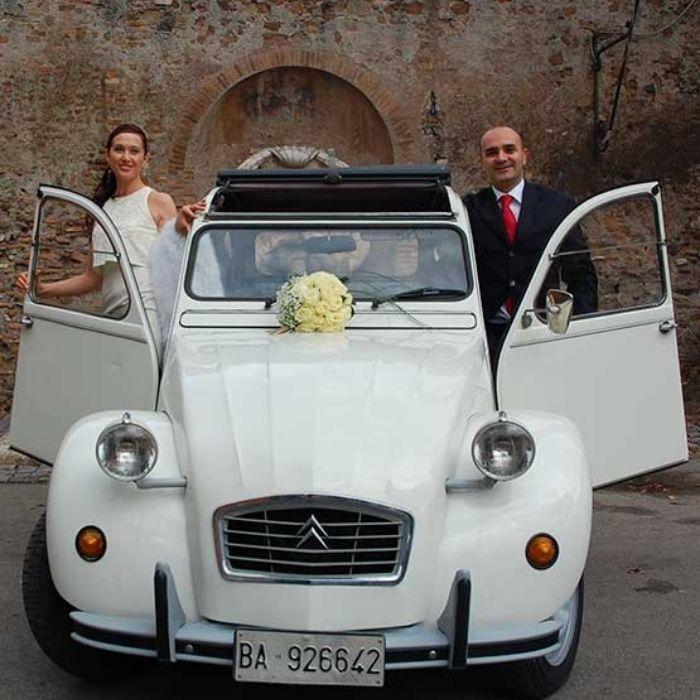 Noleggio auto matrimonio Citroen 2cv
