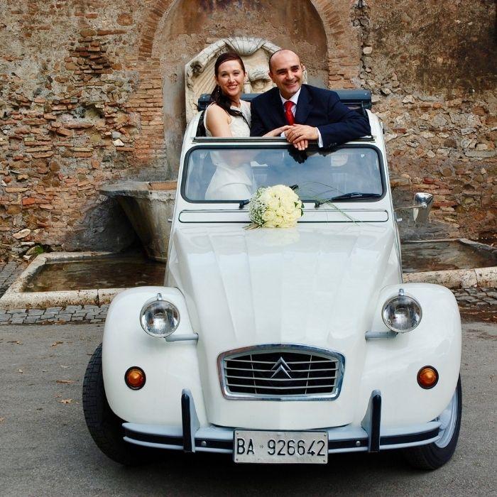 Auto matrimonio Citroen 2cv