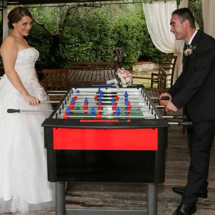 Calciobalilla matrimonio