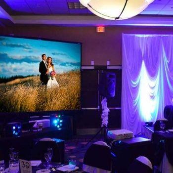 Video proiettore e schermo Matrimonio