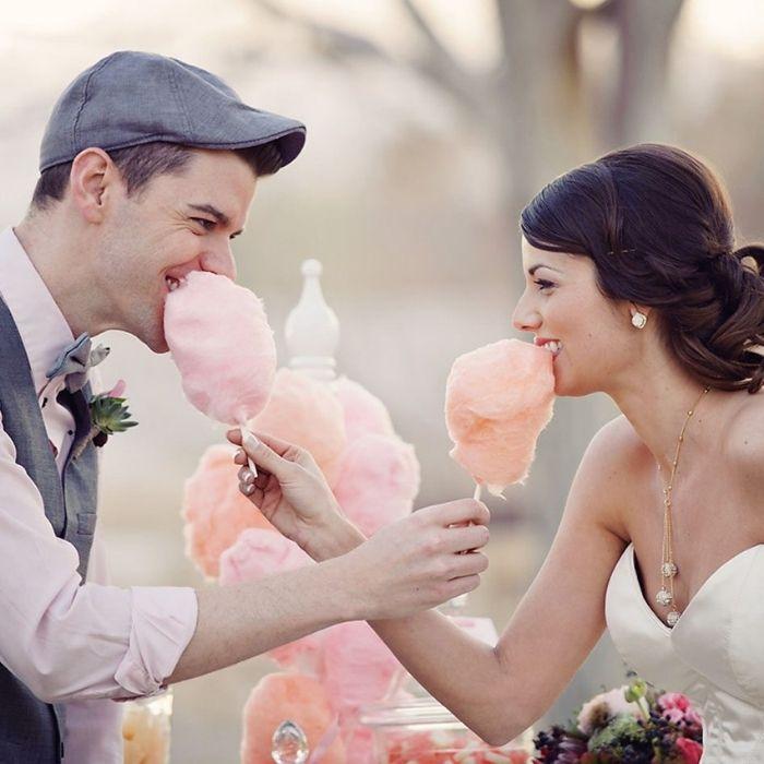 Carretto zucchero filato matrimonio
