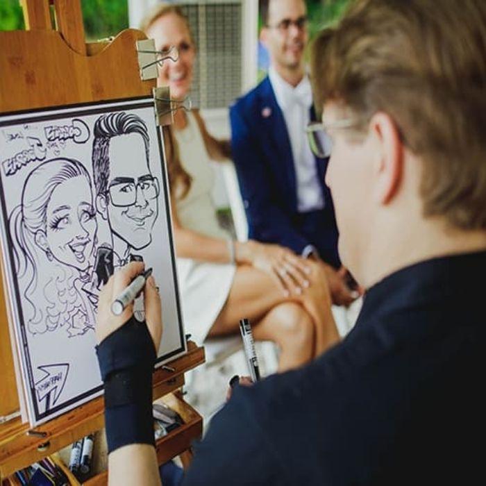 Caricaturista matrimonio roma